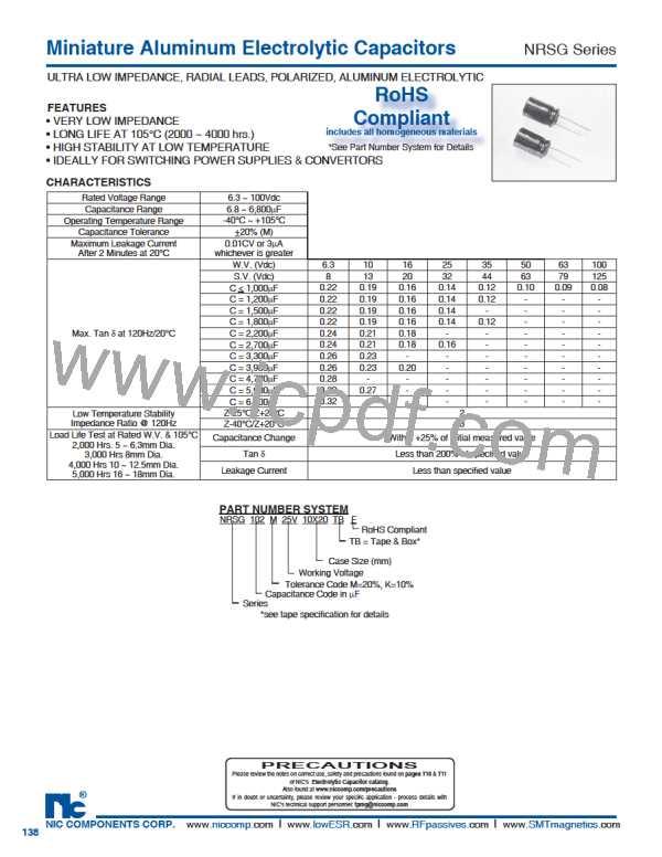 NRSG152M50V5X11TRF