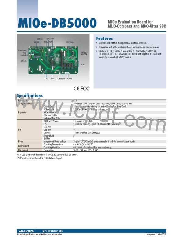 MIOe-DB5000-01A1E