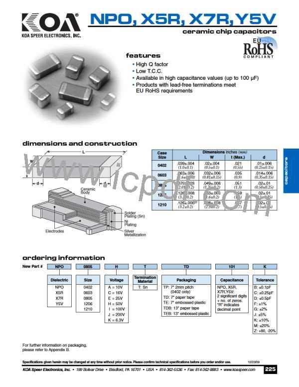 X5R0805KTTD101D